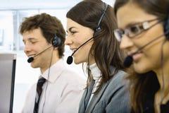 Customer service operators Stock Images