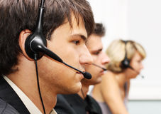 Customer service operators stock images