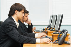 Customer service opetators at work Royalty Free Stock Photography