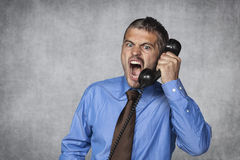 Customer service over the phone is always nice Royalty Free Stock Photo