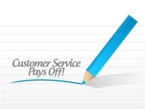 Customer service pays off message illustration Royalty Free Stock Photo