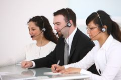 Customer service people Stock Photos