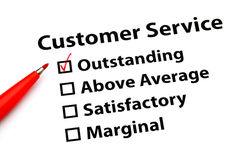 Customer service performance form Stock Image