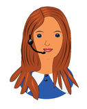 Customer service person Royalty Free Stock Photography