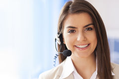 Customer service. Portrait of female worker customer service Royalty Free Stock Image