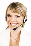 Customer service professional. With a friendly smile Stock Photo