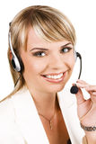 Customer service professional. With a friendly smile Royalty Free Stock Photo