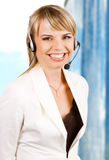 Customer service professional. With a friendly smile Royalty Free Stock Photos