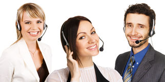 Customer service professional. With a friendly smile Stock Image