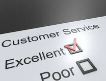 Customer service. Questionnaire blank feedback form quality control Royalty Free Stock Photos