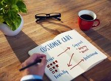 Customer Service Rating Graph. Business Man Writing Customer Service Rating Graph stock photos