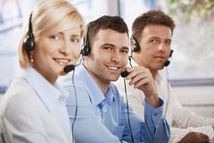 Customer service receicving calls Royalty Free Stock Photography