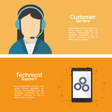 Customer service related icons image. Customer service worker related icons image  illustration Stock Photography