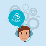 Customer service related icons image. Customer service worker related icons image  illustration Royalty Free Stock Images