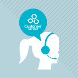 Customer service related icons image. Customer service worker related icons image  illustration Royalty Free Stock Photos