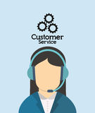 Customer service related icons image. Customer service worker related icons image  illustration Stock Photo