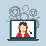 Customer service related icons image. Customer service worker related icons image  illustration Stock Image