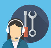 Customer service related icons image. Customer service worker related icons image  illustration Royalty Free Stock Photography