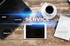 Customer service and relationship concept. Business concept Royalty Free Stock Image