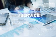 Customer service and relationship concept. Business concept Stock Image