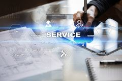 Customer service and relationship concept. Business concept Royalty Free Stock Photography