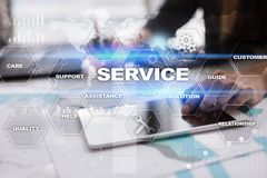 Customer service and relationship concept. Business concept Stock Photo