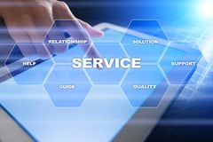 Customer service and relationship concept. Business concept Stock Photos