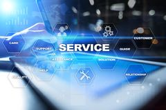 Customer service and relationship concept. Business concept. Customer service and relationship concept. Business concept Royalty Free Stock Image