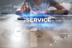 Customer service and relationship concept. Business concept. Customer service and relationship concept. Business concept Stock Photo