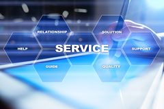 Customer service and relationship concept. Business concept. Customer service and relationship concept. Business concept Stock Image