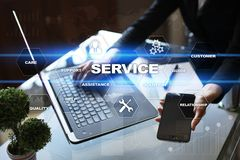 Customer service and relationship concept. Business concept. Customer service and relationship concept. Business concept Stock Images