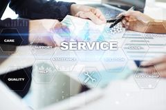 Customer service and relationship concept. Business concept. Customer service and relationship concept. Business concept Stock Photography