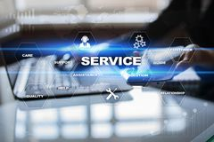 Customer service and relationship concept. Business concept. Customer service and relationship concept. Business concept Royalty Free Stock Photography