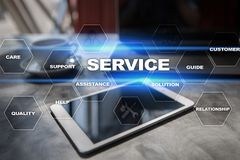 Customer service and relationship concept. Business concept. Customer service and relationship concept. Business concept Royalty Free Stock Images