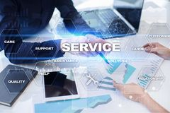 Customer service and relationship concept. Business concept. Customer service and relationship concept. Business concept Royalty Free Stock Photo