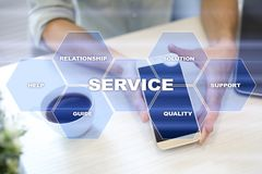 Customer service and relationship concept. Business concept. Customer service and relationship concept. Business concept Stock Photos