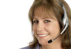 Customer Service Rep Closeup Royalty Free Stock Photo