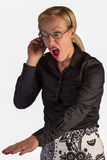 Customer Service Rep Upset on a Call Stock Images