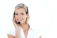 Customer service representative stock images