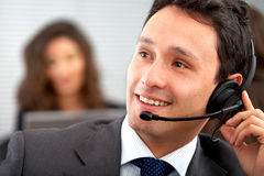 Customer service representative Stock Image
