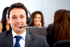 Customer service representative Stock Images