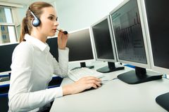 Customer service representative Royalty Free Stock Image