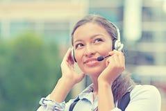 Customer service representative, call center agent Stock Photos