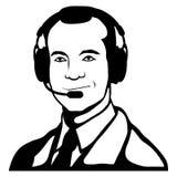 Customer service representative, call center, customer service icon, telecommunications operator, online assistant, customer. Service logo, vector artwork Stock Illustration
