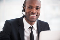 Customer service representative. Stock Photo