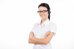 Customer service representative. Royalty Free Stock Photography