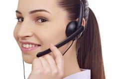 Customer service representative. Isolated on white Royalty Free Stock Photo