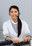 Customer service representative with headset on Royalty Free Stock Photo