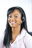 Customer service representative with headset Royalty Free Stock Photos
