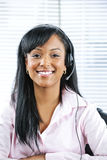 Customer service representative with headset Stock Images